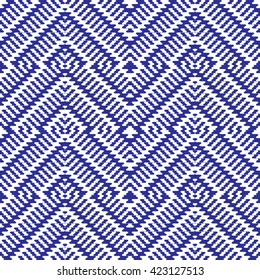 Mexican blue pattern. Vector seamless pattern. abstract geometric.