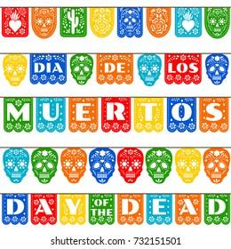 Mexican bunting for Day of the Dead (Dia de los Muertos)
