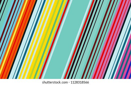 Mexican Colorful Sarape, Pattern