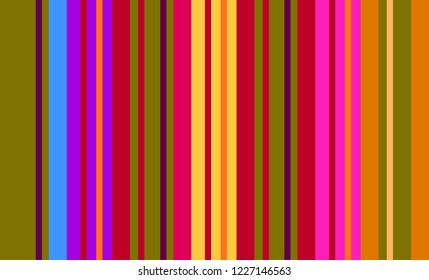 Mexican Colorful Sarape, Pattern, Multicolor Striped Background