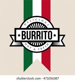 Mexican Cuisine vintage sign - Burrito