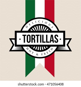 Mexican Cuisine vintage sign - Tortillas