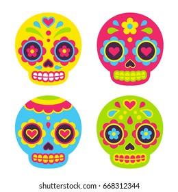 sugar skull images stock photos vectors shutterstock