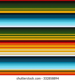 Mexican ethnic striped seamless pattern. Traditional folk handmade woven ornament. Vector illustration