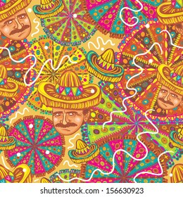 Mexican festival seamless pattern