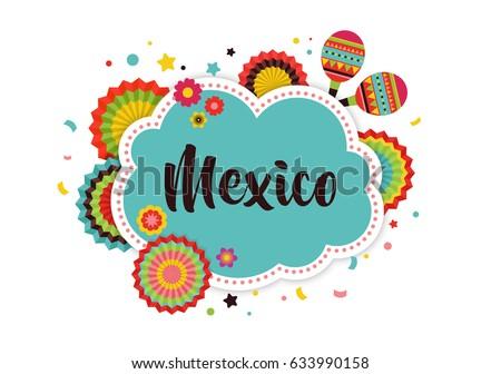 mexican fiesta background banner poster design のベクター画像素材
