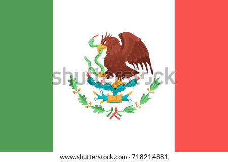 Mexican Flag Eagle Symbol Mexico Stock Vector Royalty Free