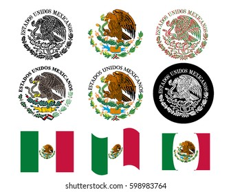 Mexican flag seal set