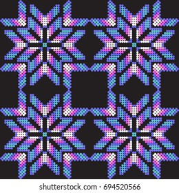 Mexican flowers pattern
