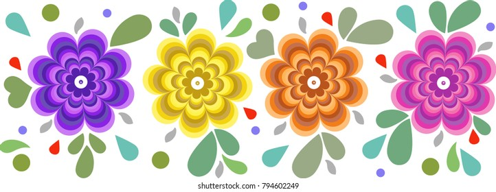 Mexican flowers vector