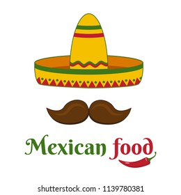 Mexican food. Colorful banner. Vector illustration