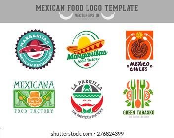 Mexican food logo. Vector template