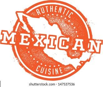 Mexican Food Menu Stamp