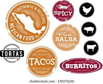 Mexican Food Restaurant Menu Clip Art