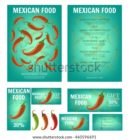 mexican food mexican restaurant menu template stock vector royalty