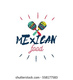 Mexican food type illustration.