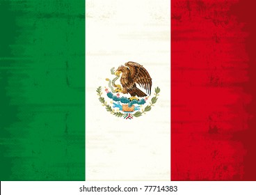 Mexican grunge Flag. A mexican flag with a texture