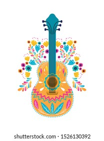 mexican guitar isolated icon vector illustration design