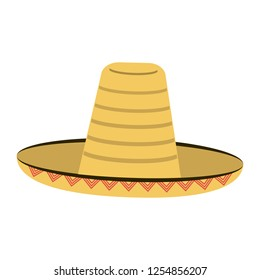Mexican hat isolated