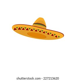 Mexican hat, sombrero, mexican hat isolated, mexican hat vector