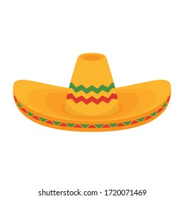 Mexican hat vector. Mexican hat on white background.