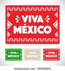 Mexican Holiday Decoration - Cut Out Paper Viva Mexico