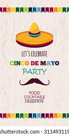 Mexican holiday vector poster/cinco de mayo