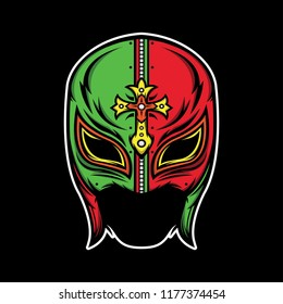 mexican lucha libre, vector EPS 10