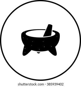 mexican molcajete mortar and pestle symbol