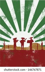 Mexican musician poster, vector
