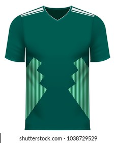 Mexican national soccer team shirt in generic country colors for fan apparel.