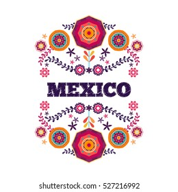 Mexican pattern, beautiful ethnic ornamert