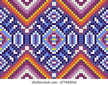 MEXICAN PATTERN made from small colorful circles