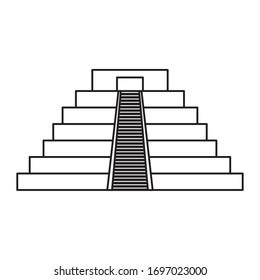 Mexican pyramid design, Mexico culture tourism landmark latin and party theme Vector illustration