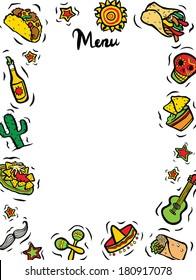 Mexican Restaurant Ingredients Menu Template
