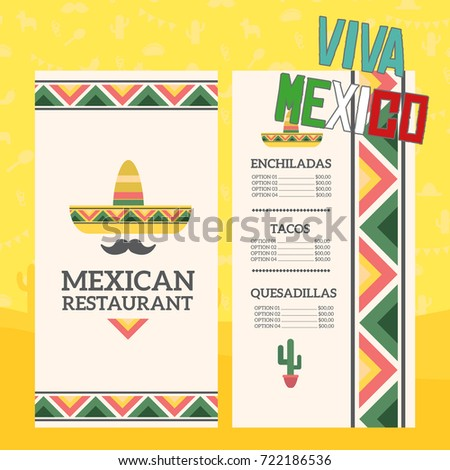 mexican restaurant menu template stock vector royalty free