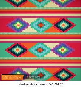 Mexican rug background. Vector image