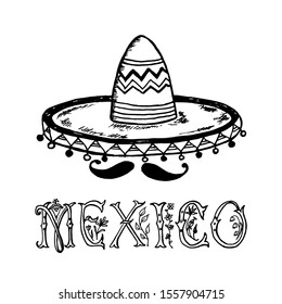 Free Black And White Sombrero, Download Free Clip Art, Free Clip Art on  Clipart Library