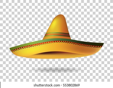 56e6b5bf9d9c6 Mexican Sombrero Hat transparent background. Mexico. Vector illustration