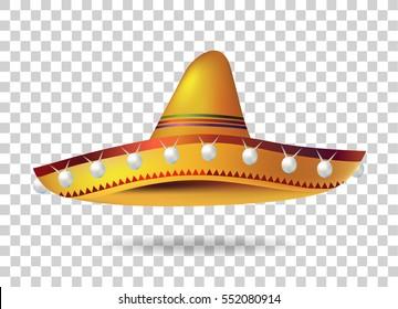 Mexican Sombrero Hat. Vector
