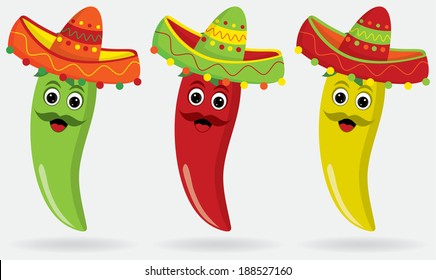 Mexican Jalape�±os in sombreros!
