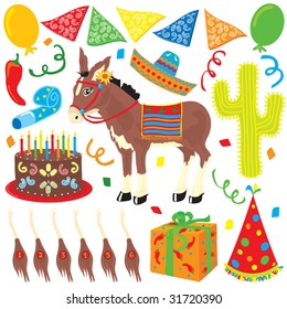 Mexican Style Birthday Party elements great for any children's party.