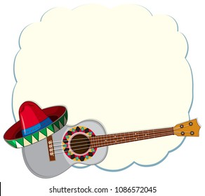 mexican template guitar illustration stock vector royalty free