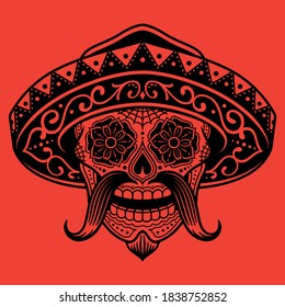 A Mexican Sugar Skull Bandit