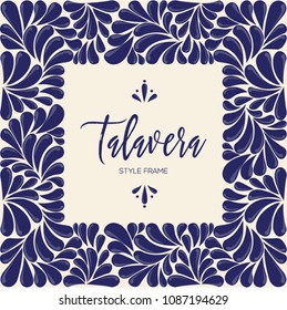 Mexican Traditional Talavera Style from Puebla; México – Copy Space Composition