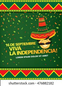 Mexican translation of the inscription: 16 th of September. Happy Independence day!