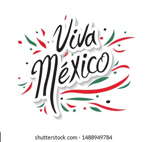 Mexican vector banner layout design. Viva Mexico holiday, vector illustration.