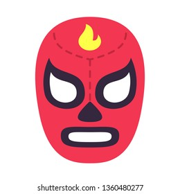 Mexican wrestler mask. Isolated vector illustration