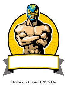 mexican wrestler pose