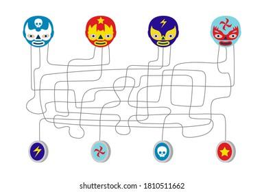 mexikanische Ringer-Thread-Kinder